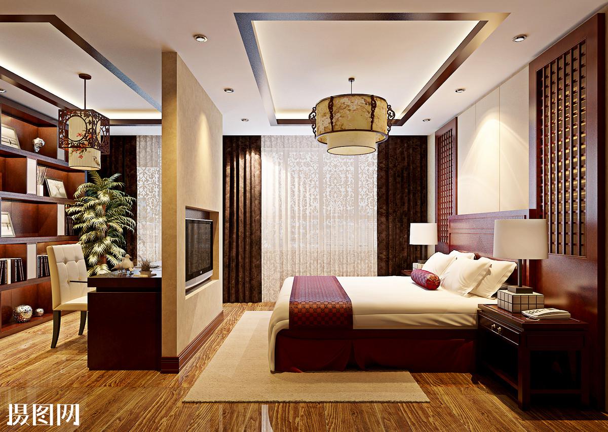 卧室效果图,卧室,床品,地毯,主卧室效果图,墙纸,室内效果图,家装图片
