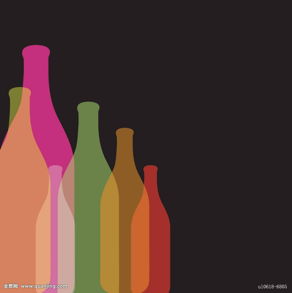 艺术品,旗帜,酒吧,绿色,瓶子,鲜明,泡泡,彩虹,鸡尾酒,创意,装潢,装饰图片
