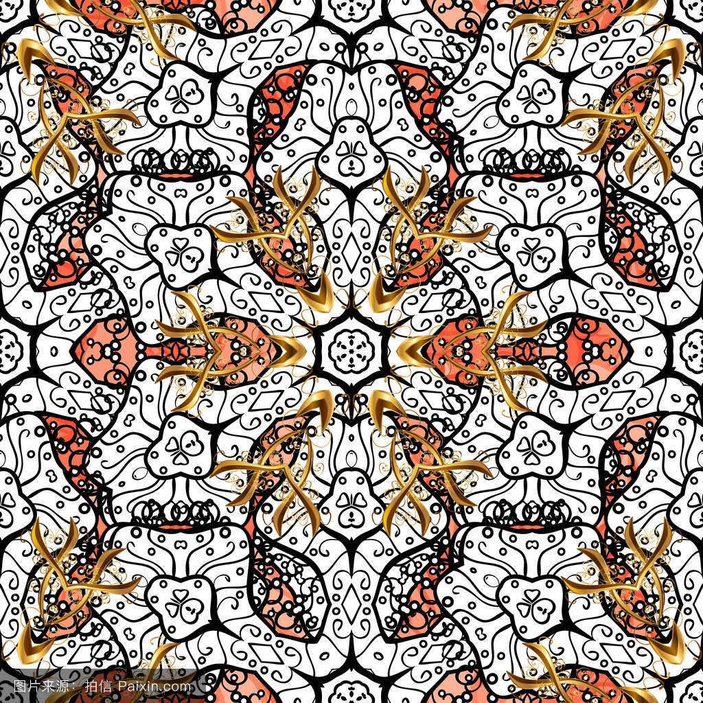 精致的,纹理,模式,欧洲的,卷曲的,纺织品,繁荣,剪贴簿,织物,叶,丝绸图片
