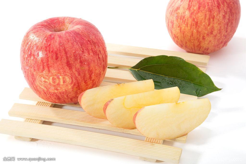 苹果切开图片