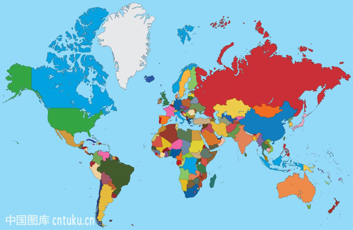 澳大利亚,北,德国,地球,地图,俄罗斯联邦,非洲,美国,南,欧洲,矢量图图片