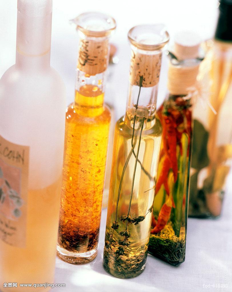 安放,种类,瓶子,选择,食用油,不同,油脂产品,五个,味道,食物,手工制作图片