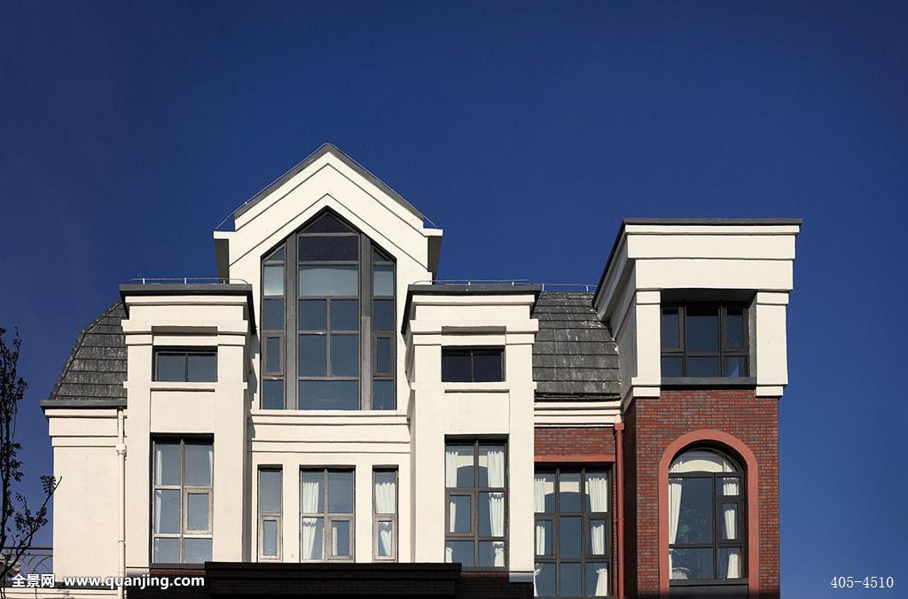树房屋住宿休息区窗户窗帘屋角哥特玻璃琉璃瓦别墅社区