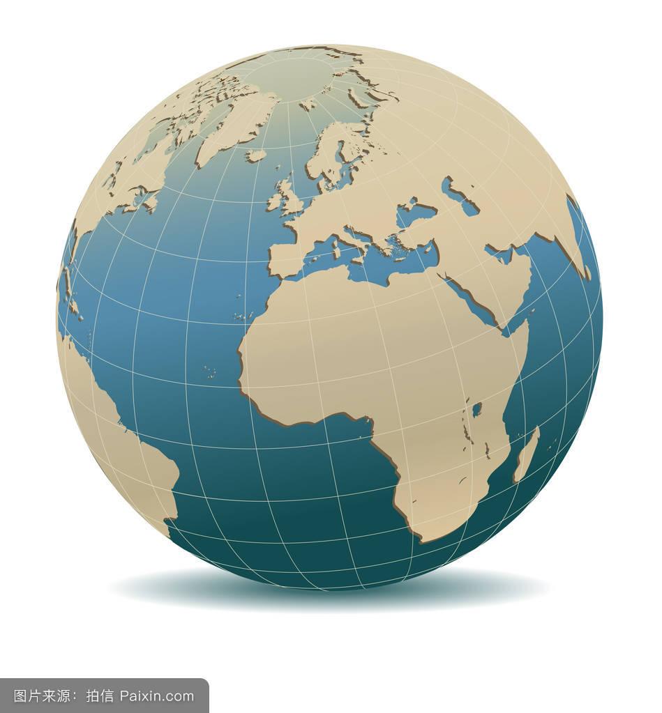全球哈���d_复古风格的欧洲和非洲,全球化的世界,这个im的元素