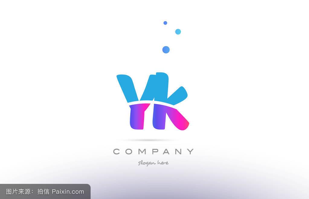 囹f�ZJ~yK^[�_大写字母,yk,蓝色,标志,现代的,符号,粉红色,字母表,矢量,商业,标识