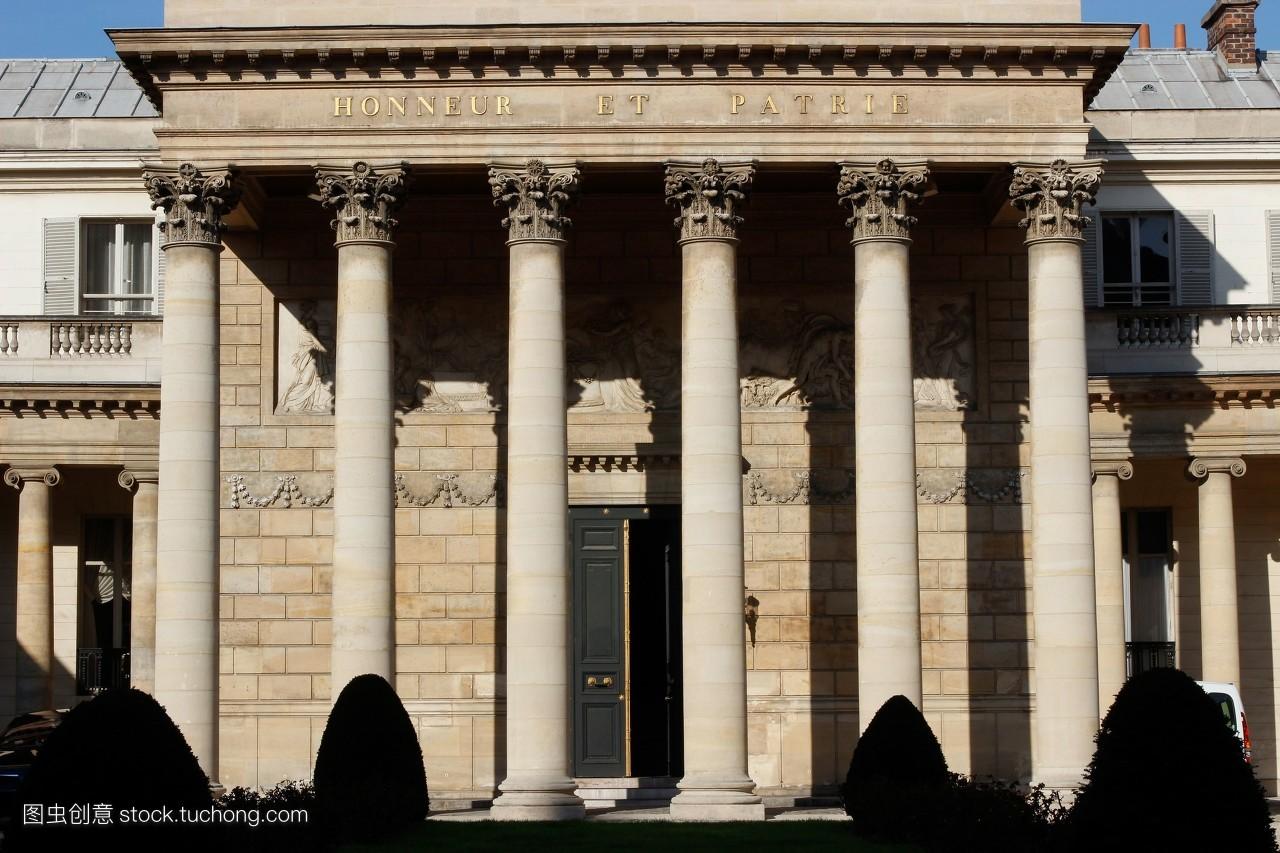 郡,欧洲,庭院,博物馆,建筑,宫殿,内院,法国,巴黎,柱子,第七郡,风光图片