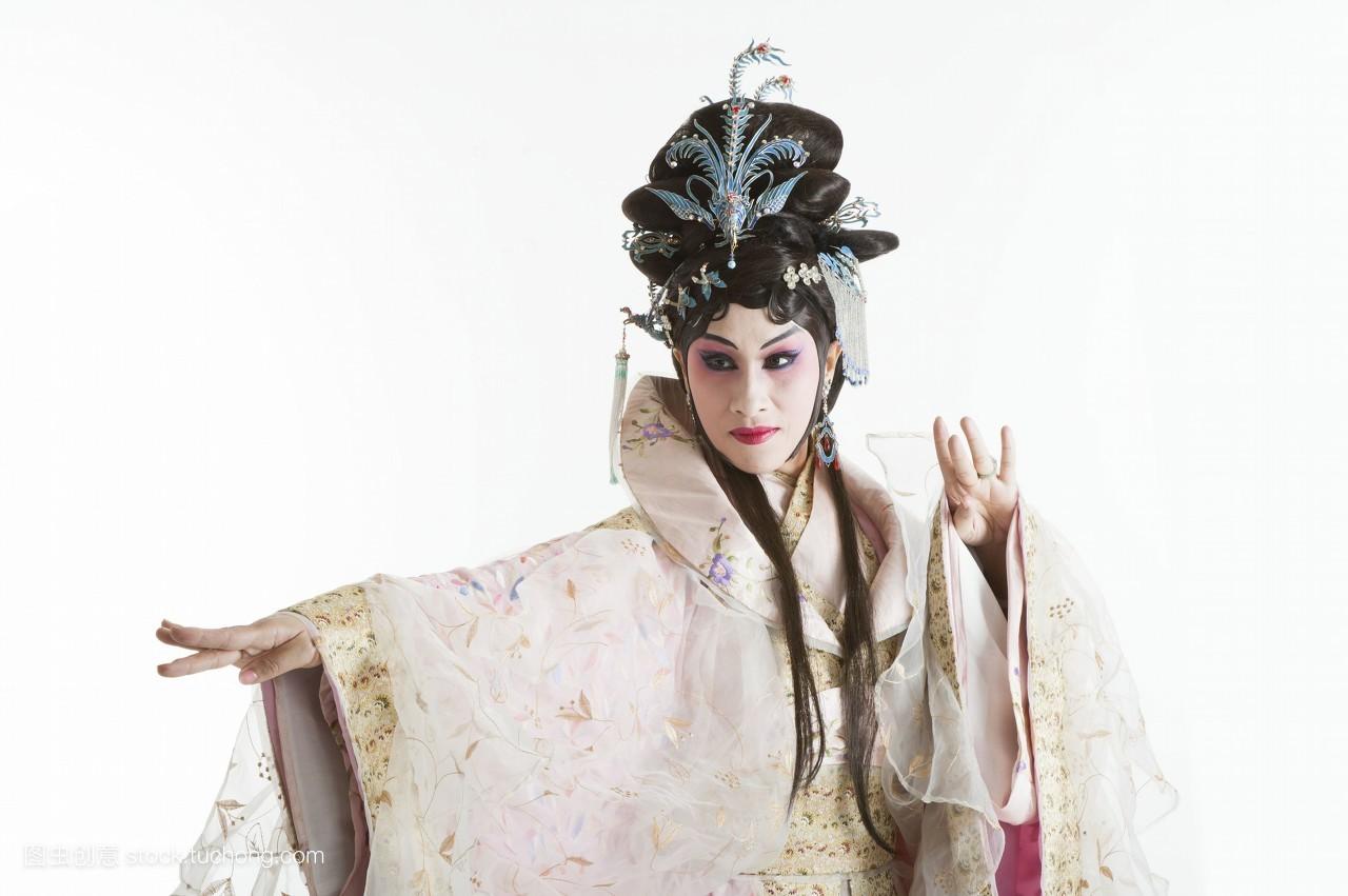 舞台服,艺术工作者,艺术与表演,中华传统艺术,古装,传统艺术,舞台妆图片