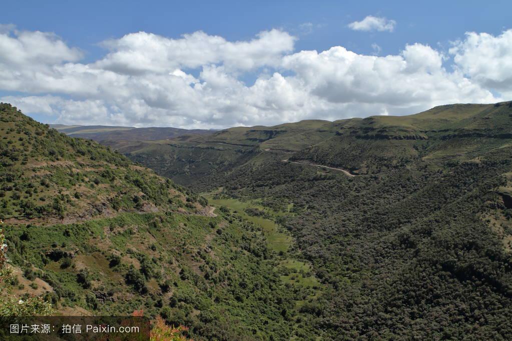 山���!�-��.�9`a�f-:##_非洲,阿姆哈拉人,景观,埃塞俄比亚,东非,国家公园呢,草地,瑟门山
