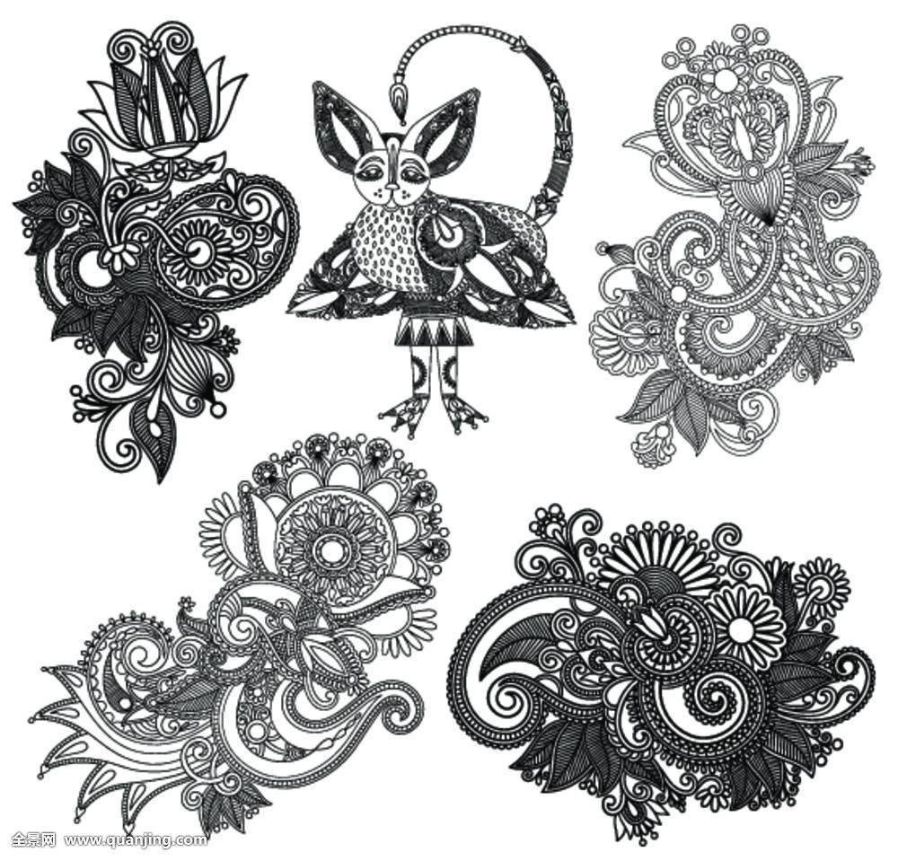 纹身模板叶子分享展示图片