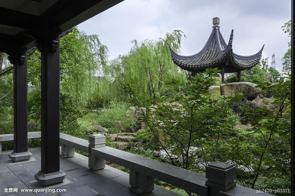 柱子,古典风格,园林,别墅,植物,中国元素,中式庭院,苏州园林,中式别墅图片