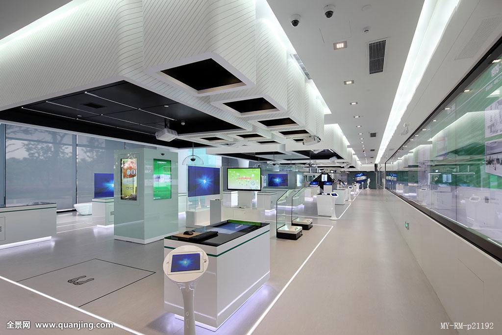 科技公司大厅效果图-大厅装修效果图-公司接待大厅效果图-科技公司图片