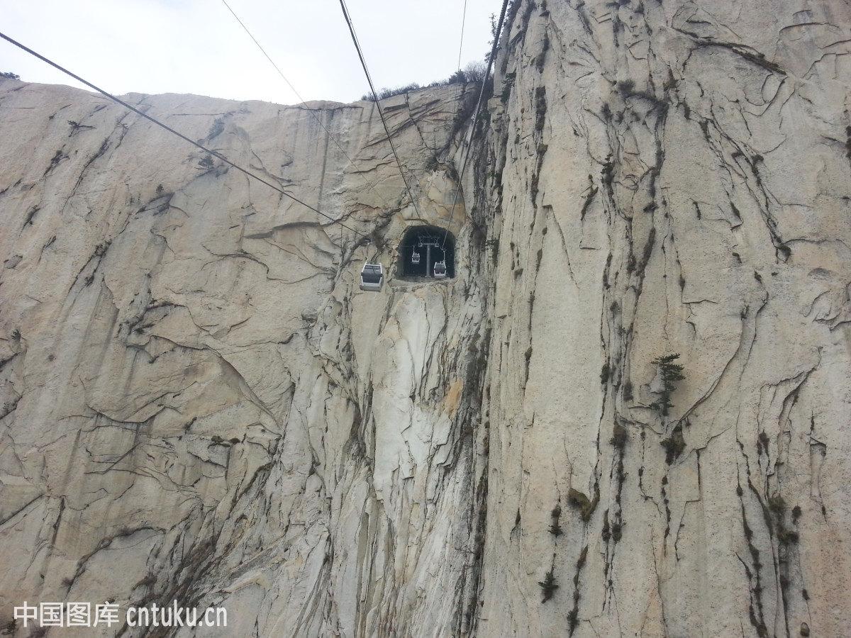 陕西华山缆车图片