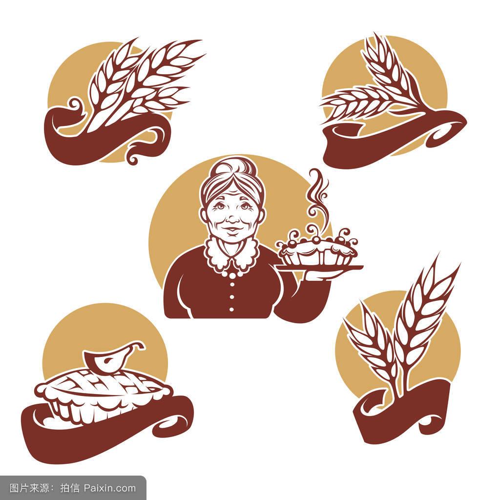 女人,标志,旗帜,棕色的,传统的,新鲜的,一餐,怀旧,馅饼,糕点,小麦图片