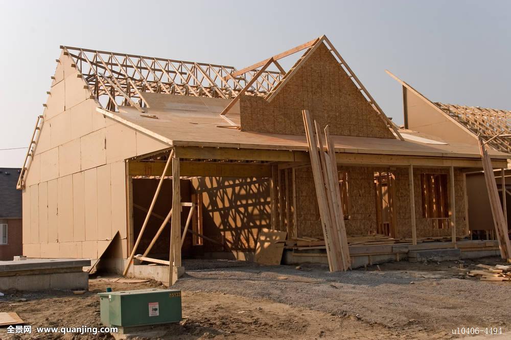 建筑,未来,家,房子,地产,蓝色,鲜明,框架,活动房屋,预制,修葺,屋顶图片