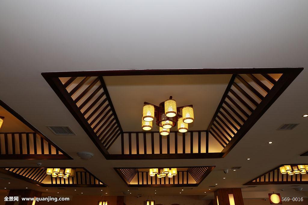 设计,华丽的,黄金酒店,星级酒店,度假餐馆,住宅内部,实木吊顶,壁画,灯图片
