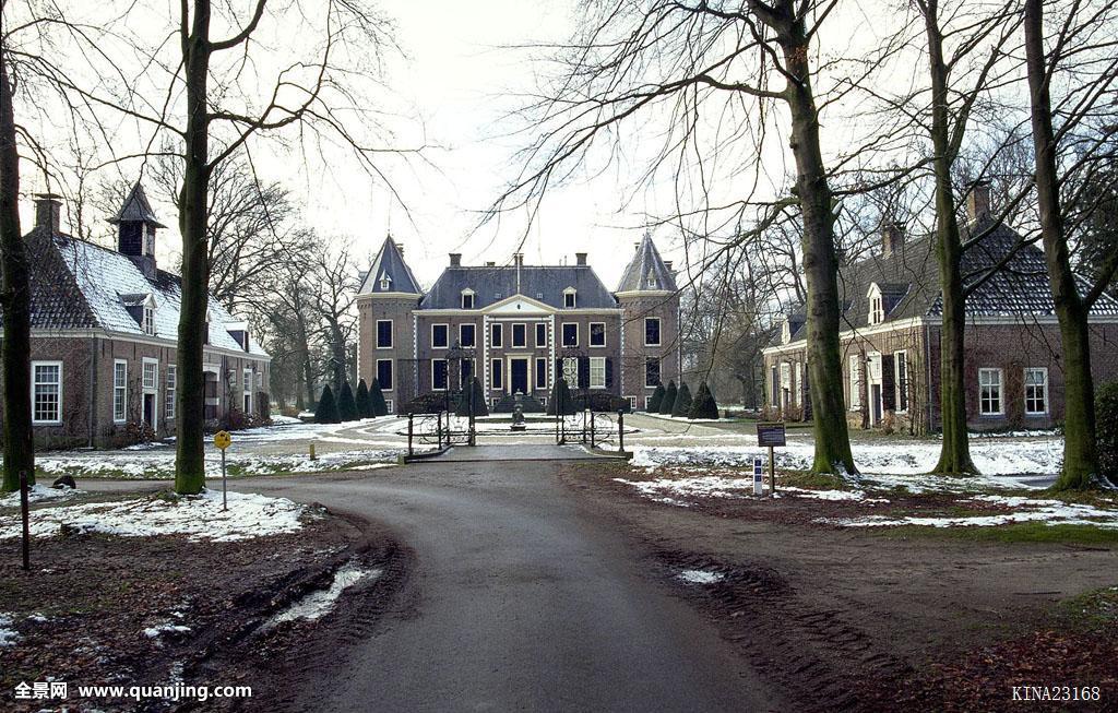 上艾瑟尔省,荷兰,欧洲,冬天,35毫米图片