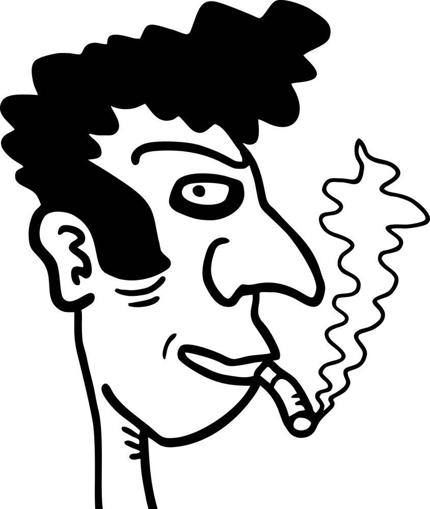 艺术,艺术品,黑白,兔子,卡通,愉悦,香烟,疯狂,可爱,涂写,绘画,有趣图片