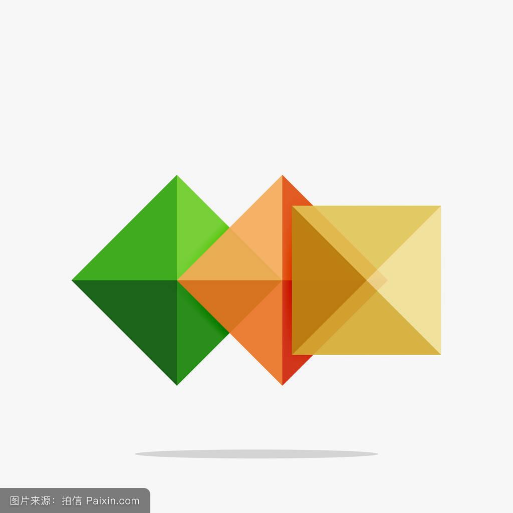 矢量空白抽象正方形背景图片