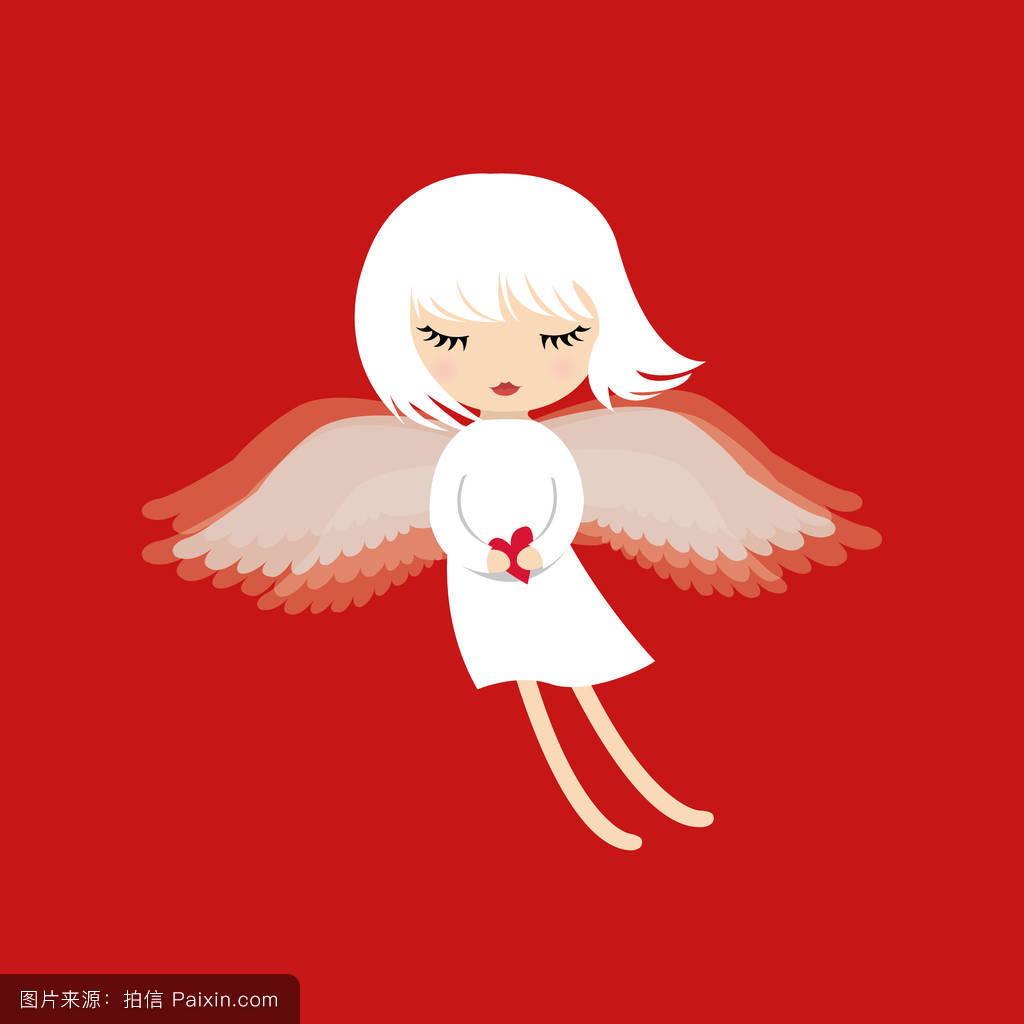天使翅膀图片简笔画 卡通天使翅膀简笔画 天使的简