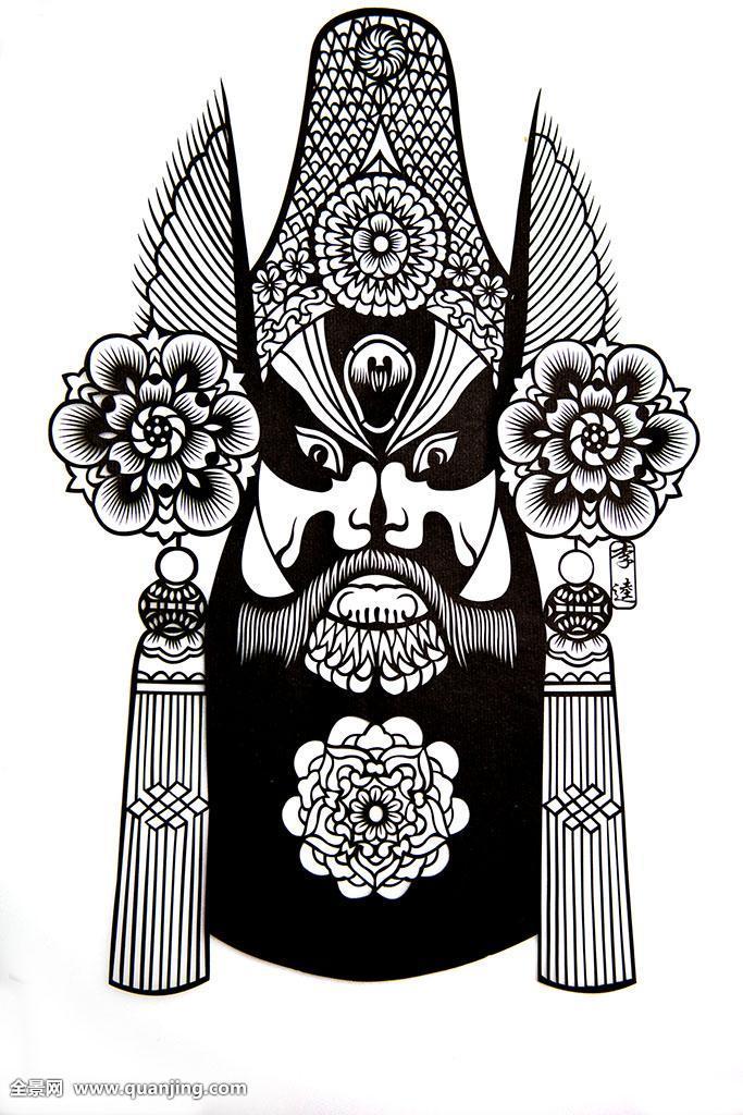 象征运气美术工艺艺术品与工艺品绘画头饰京剧戏剧人物戏曲图片