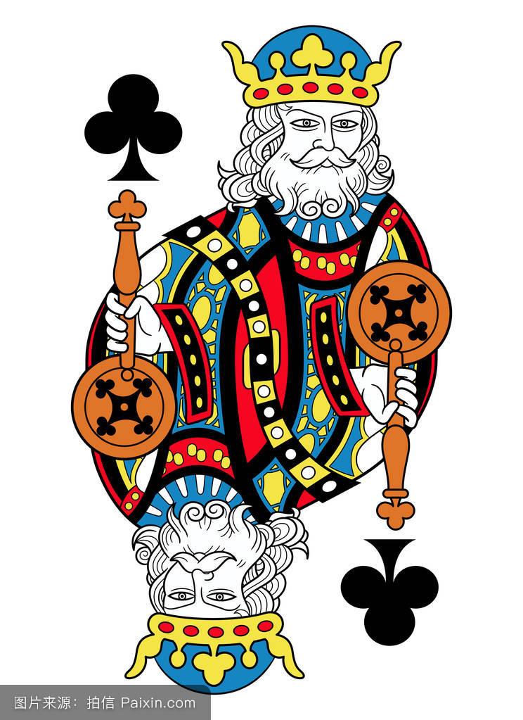 蓝色,扑克牌,符号,国王,扑克,游戏,暴发户,玩,卡片,形状,赌徒,分离