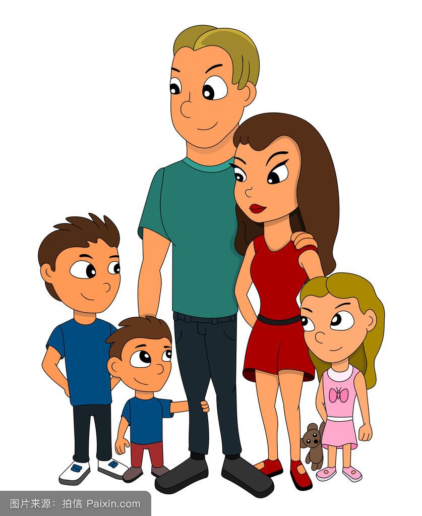妈妈色爸爸色_女孩,小孩,五,儿童,妈妈,父亲,成人,男孩,女儿,兄弟姐妹,孩子们,红色