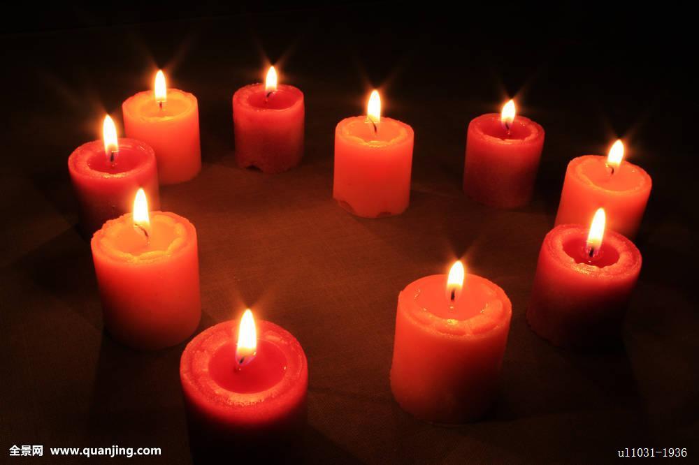 心形,蜡烛图片