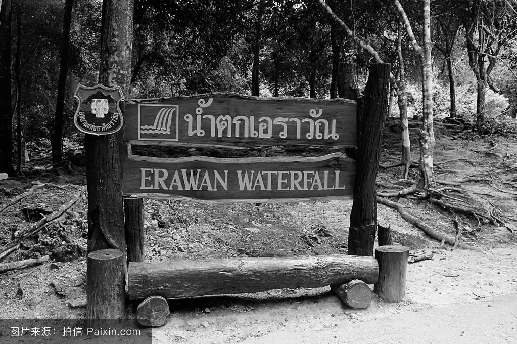 自然的,邮递,签名,泰国,景观,公园,广告牌,板,木材,北碧,自然,背景图片
