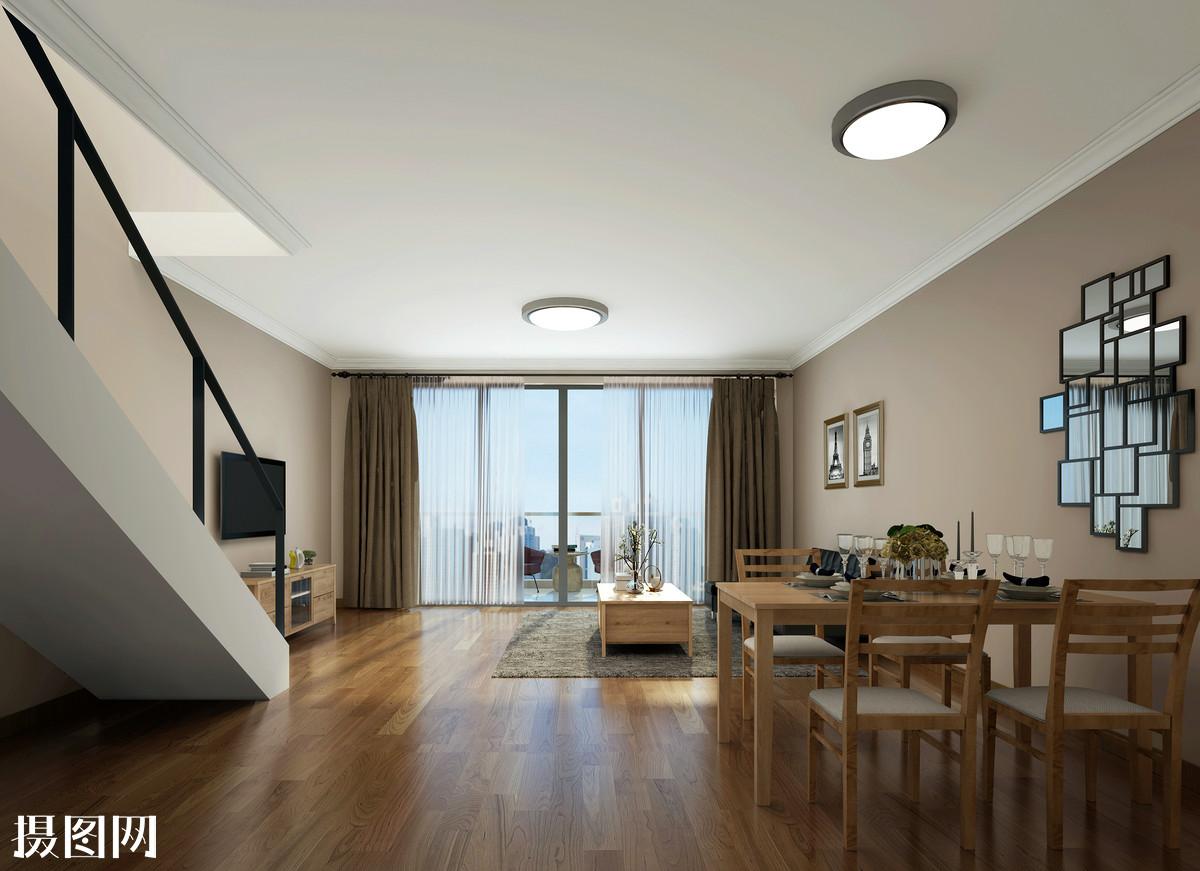 现代简约风客厅室内设计效果图图片