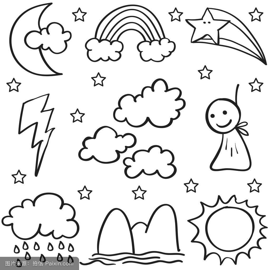 气象符号图案大全-天气预报标志符号图解,符号大全,3图片图片