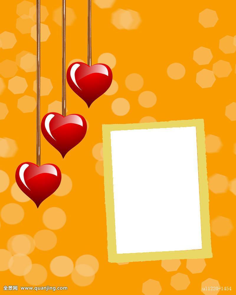 喜爱,概念,插画,设计,红色,粉色,心形,照片,相框,框,假日,情人节图片