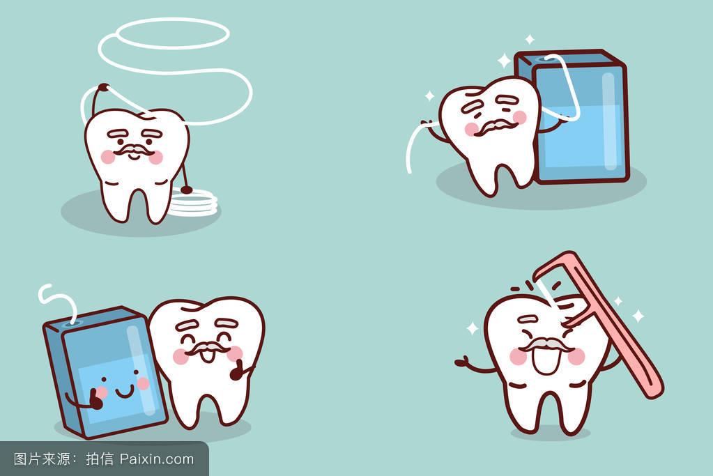 卡通,口,爱,性格,符号,表情符号,口腔医学,疾病,概念,清洁的,签名图片图片