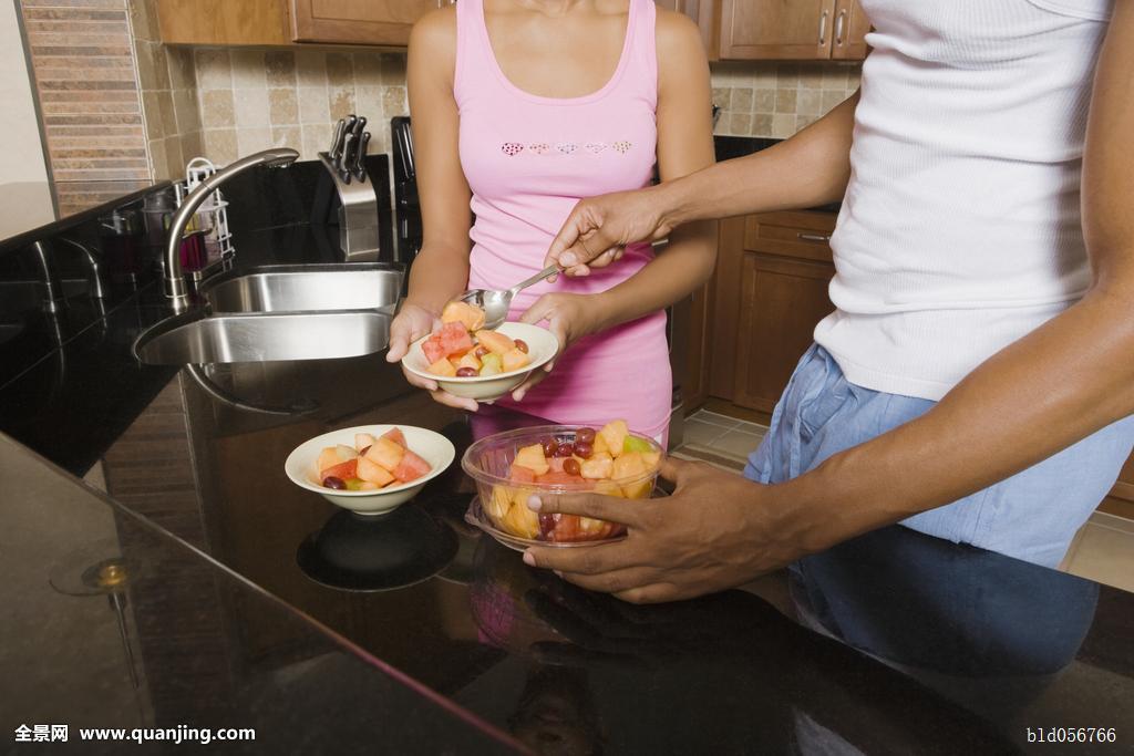 非洲,伴侣,吃饭,水果沙拉图片