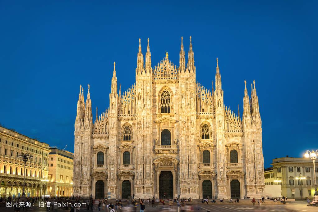 维托里奥,中世纪,蓝色,圆顶,欧洲的,教堂,宗教,傍晚,大教堂,夏天图片