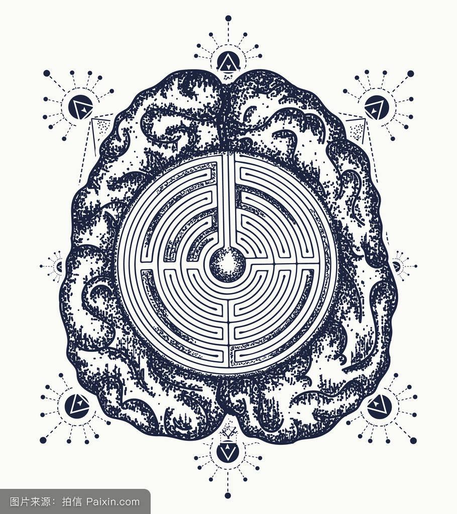 脑,绘画,能量,超级大脑,介意,心理学,纹身设计,聪明的,嬉皮士,梦想图片