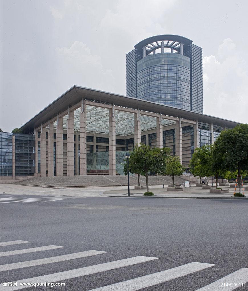 地标建筑浙江大学楼群学校高等学府雄伟壮观仰视图书馆斑马