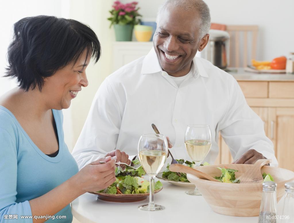 非洲,伴侣,吃饭,沙拉图片