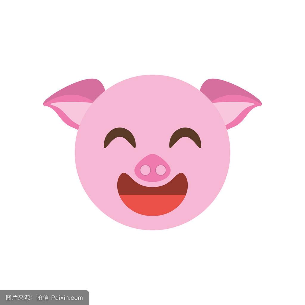 卡通,哺乳动物,自然,猪肉,性格,符号,表情符号,猪,面对,小猪,头,矢量图片