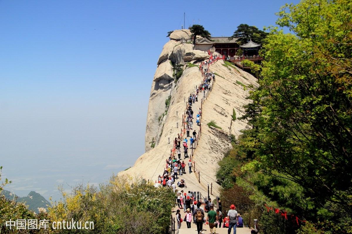 风光类:陕西西岳华山风光图片