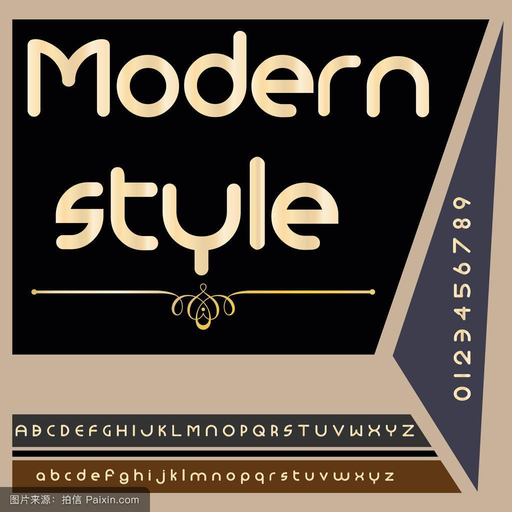 字体字体现代风格老式脚本字体矢量字体标签和任何类型的设计图片