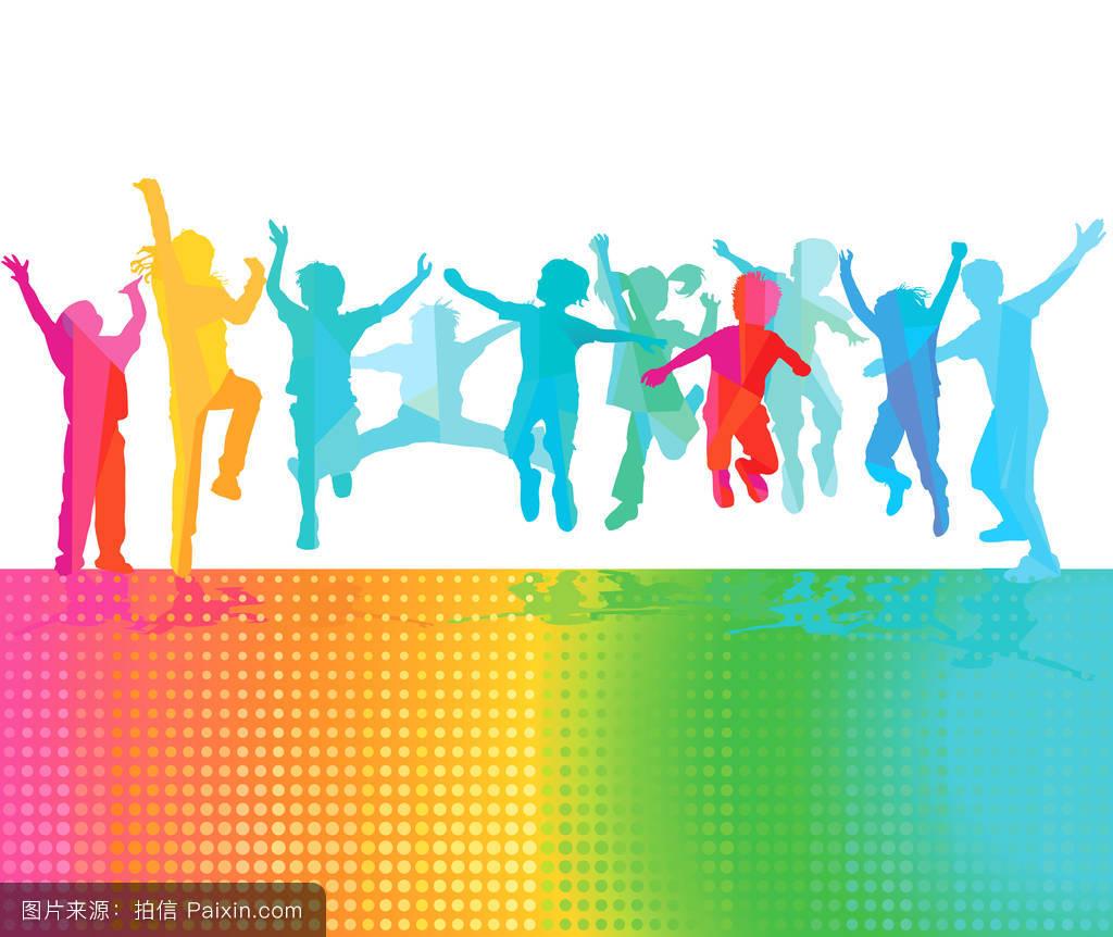 欢乐�z��z��K��Z�>X��k�_快乐的孩子会跳跃和欢乐.