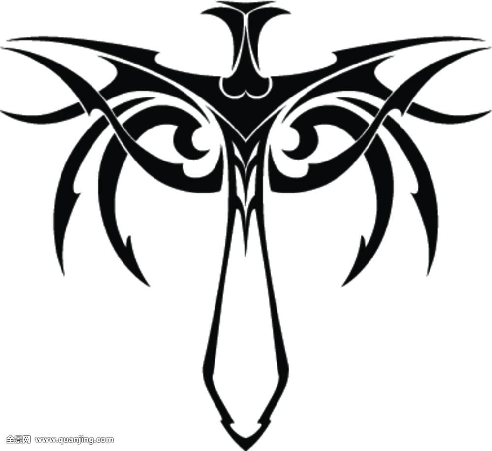 艺术,剑,象征,武器,黑色,v艺术,刀刃,房子,中世纪,装修,标识,刀,纹身装饰部族设计费图片