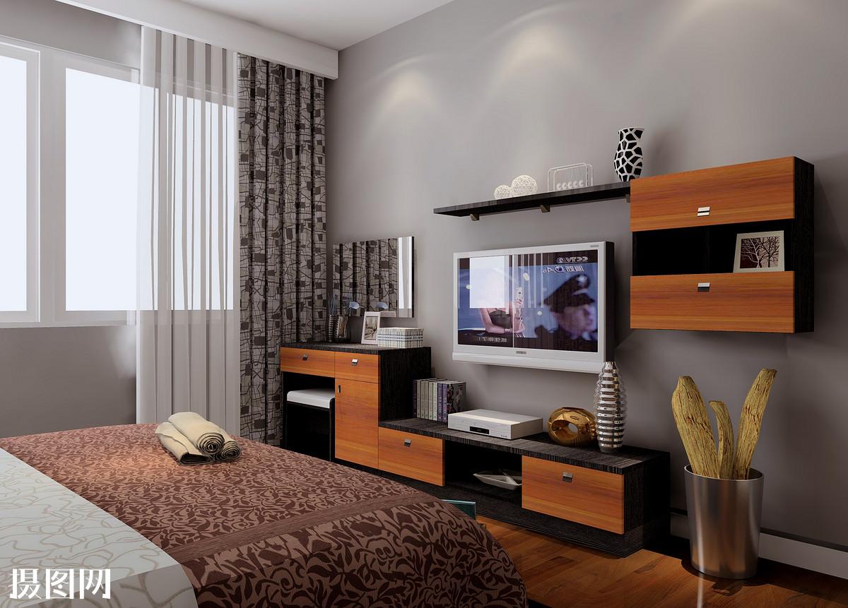 主卧室效果图,新中式,家装,效果图,室内效果图,3d效果图,新中式卧室图片