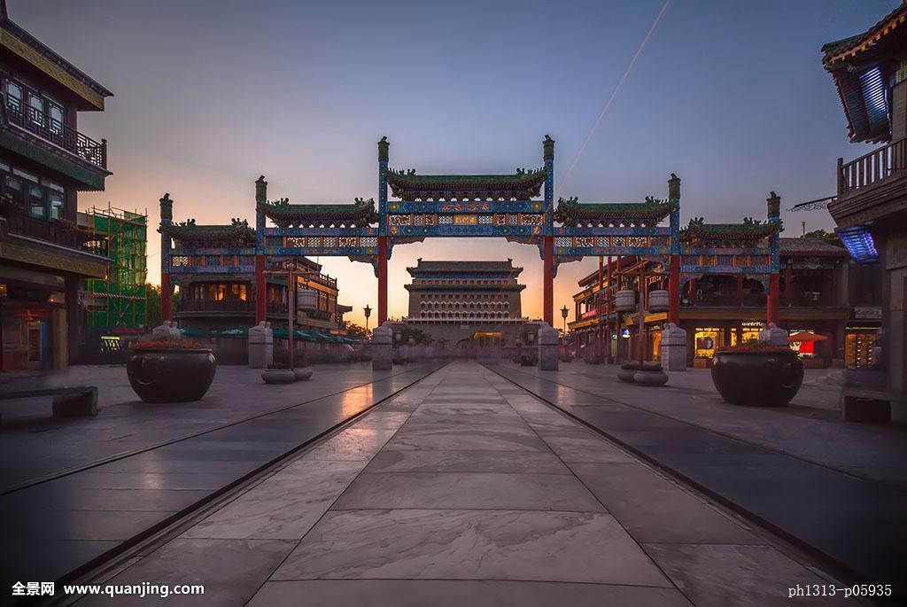 北京前门大街建筑景观图片