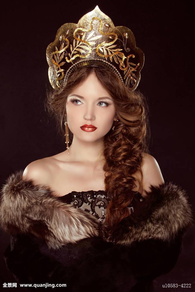 女性,女人味,女孩,魅力,化妆,头发,发型,辫子,人,漂亮,红色,俄罗斯人图片