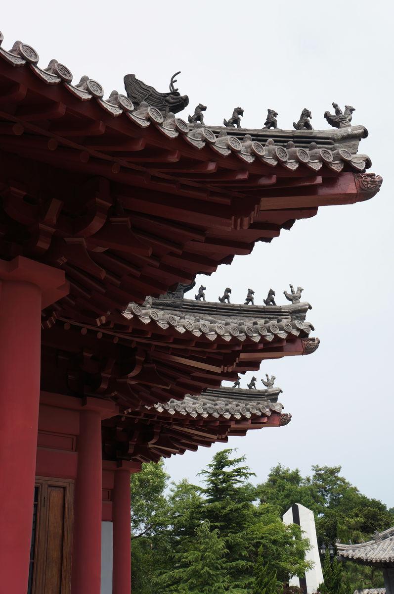 中式建筑屋檐图片