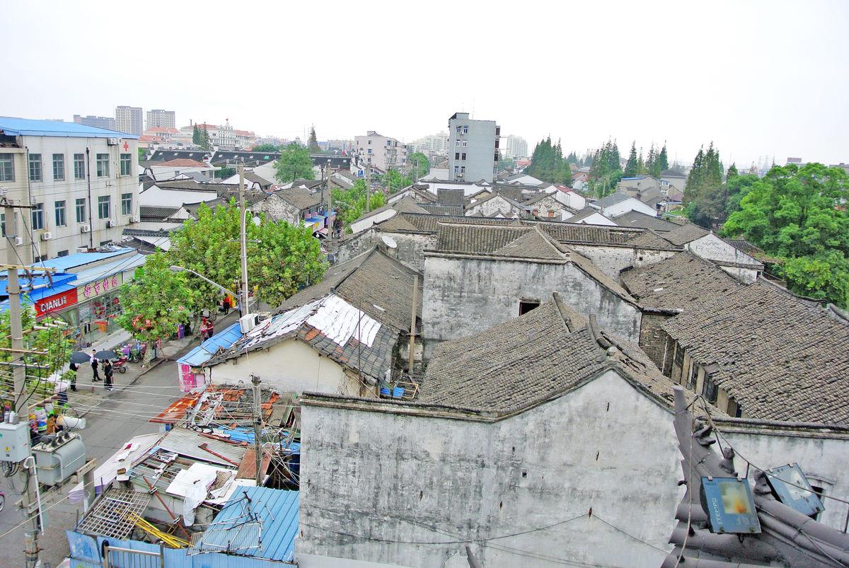 泗泾古镇,松江建设,中式瓦房,徽派建筑,中式屋檐,城市改造,中式照壁图片