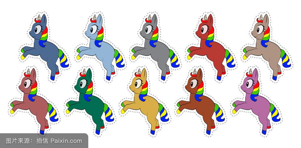 教养,头发,游戏,矢量,幻想,公主,各种各样的,幸福的,可爱的,白色,小马图片