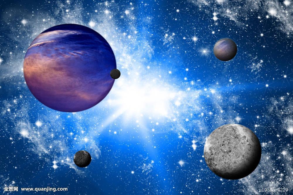 发光,奶白色,月亮,神秘,星云,夜晚,星球,科学,天空,太阳,太空,星星,纹图片