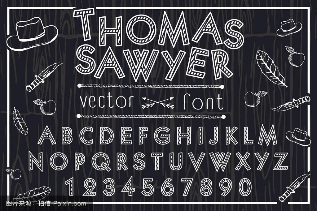 托马斯索耶字体图片